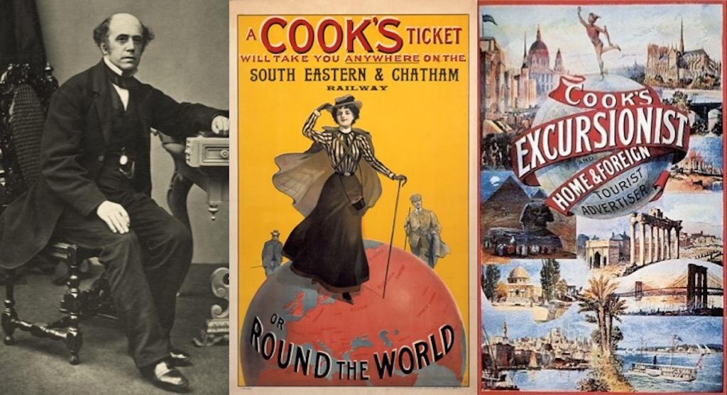 トーマス・クック(1808~1892年)と旅行案内チラシ