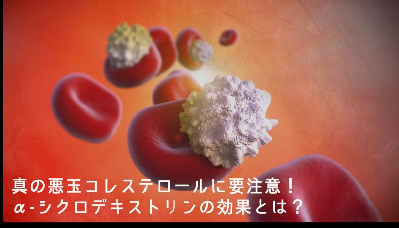 真の悪玉コレステロールに要注意!α-シクロデキストリンの効果とは?