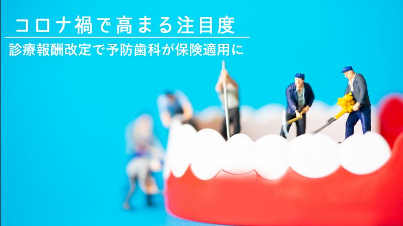 コロナ禍で高まる注目度 診療報酬改定で予防歯科が保険適用に