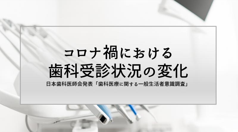 【コロナ禍における歯科受診状況の変化】日本歯科医師会「歯科医療に関する一般生活者意識調査」を発表